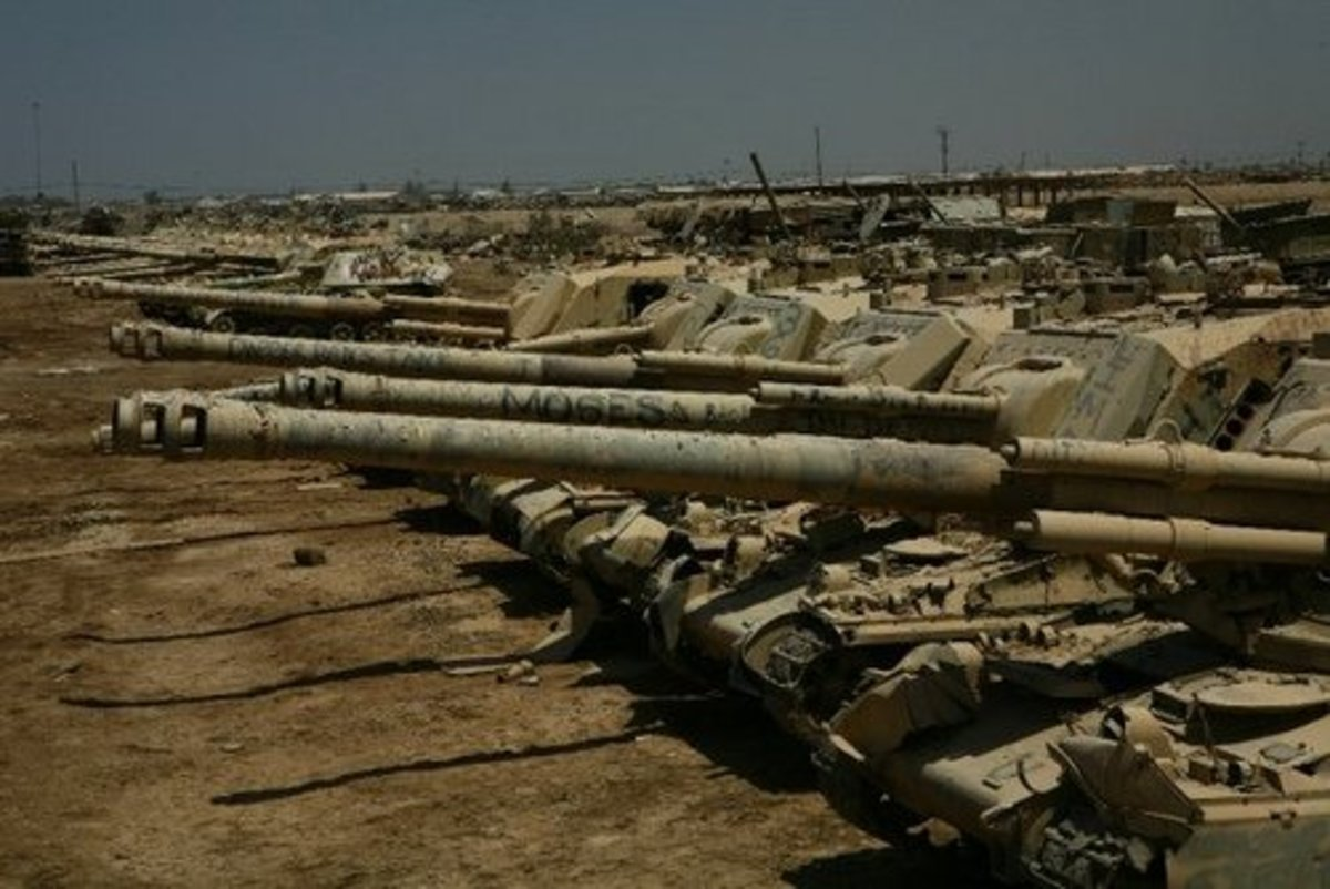 Military Junkyards and Graveyards for Scrap Vehicles, Tanks, and Jeeps