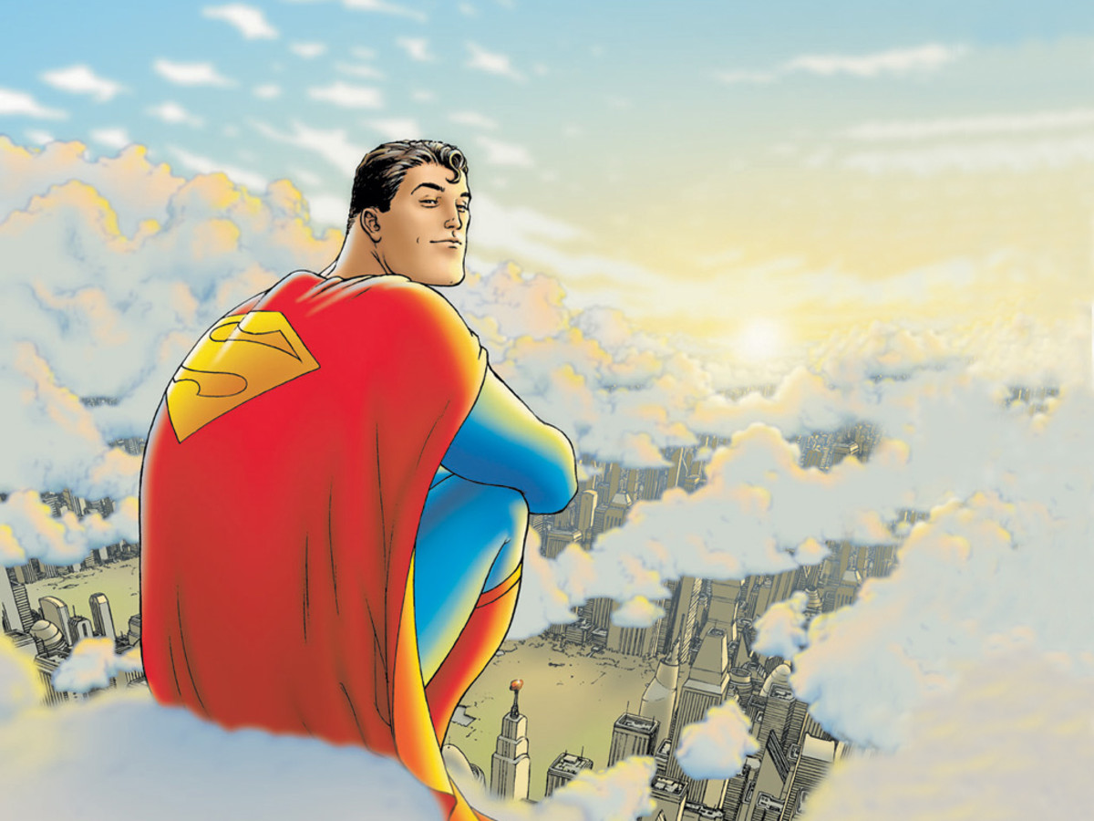 """All Star Superman"" cover by Frank Quitely"