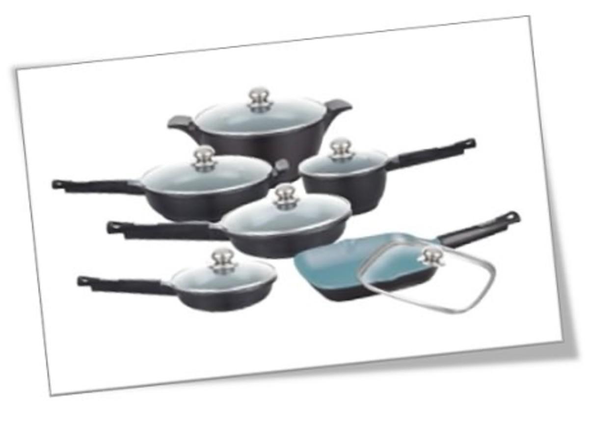 Healthy Legend nonstick ceramic 11-piece cookware set.