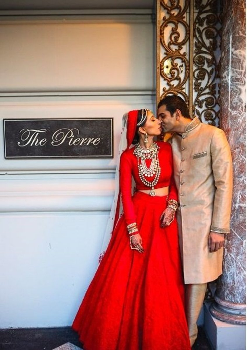 The red bride of the South east asian countries like India, Bangladesh and Pakistan.