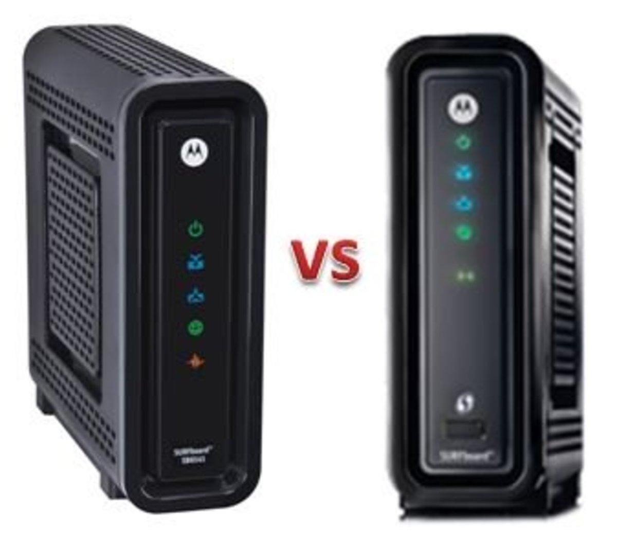 Motorola Surfboard SB6141 vs SBG6580