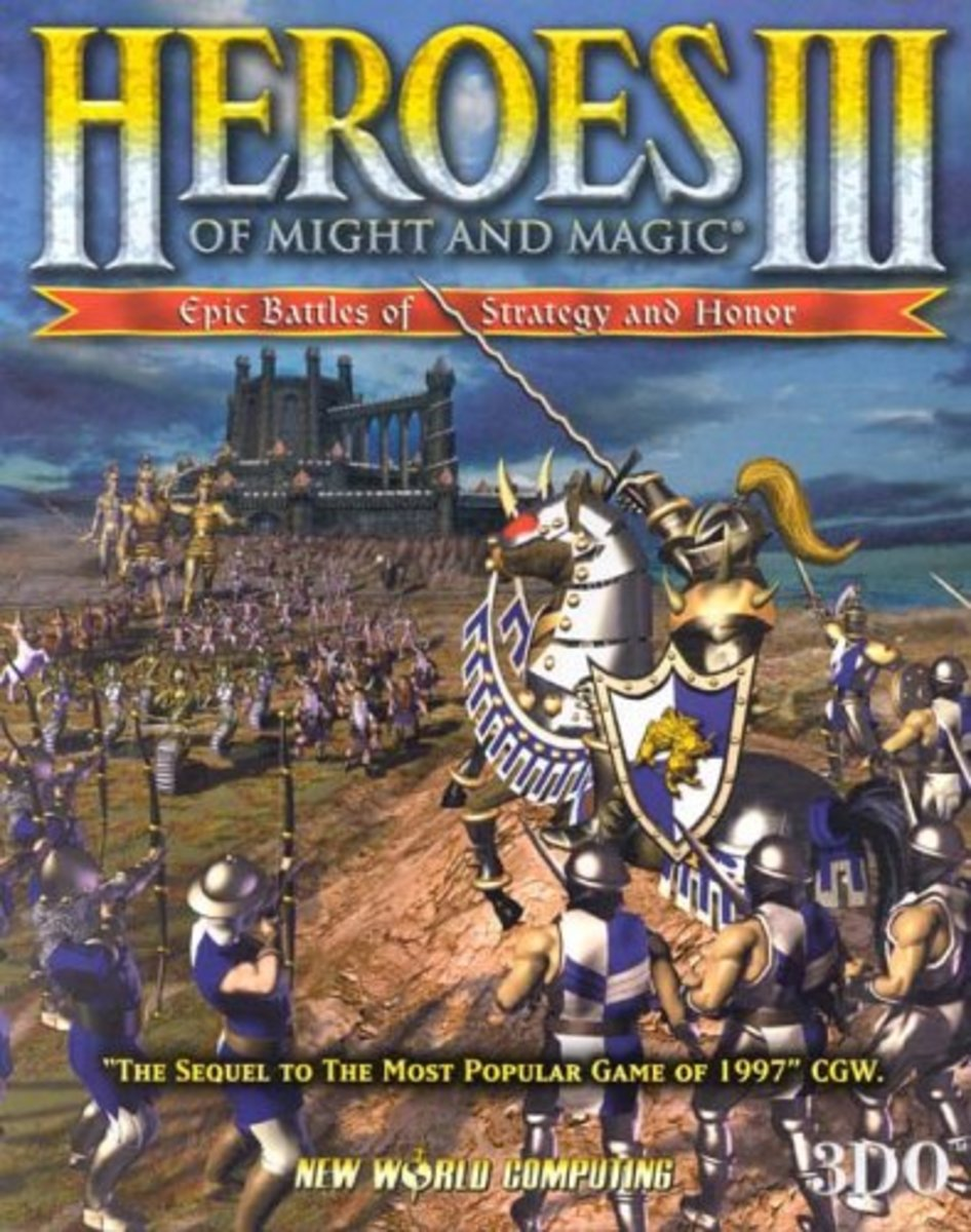 This is the original box art for Heroes of Might and Magic III when it was released in 1999.