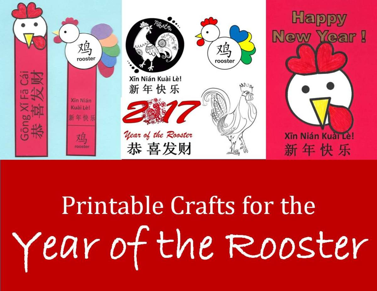 Kid Crafts for Year of the Rooster: Chinese New Year Art Projects and Printables