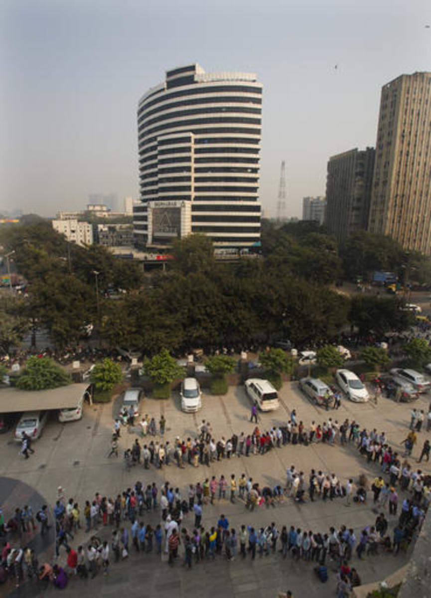 People Outside the Bank