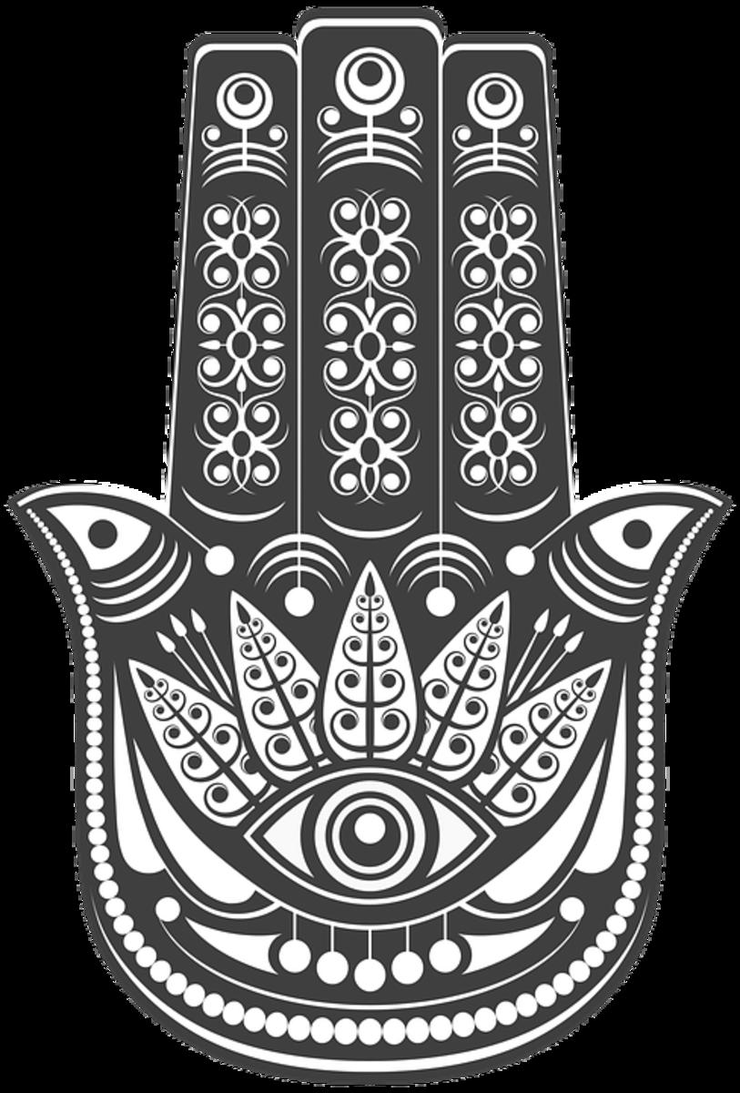 the protective boho hamsa hand