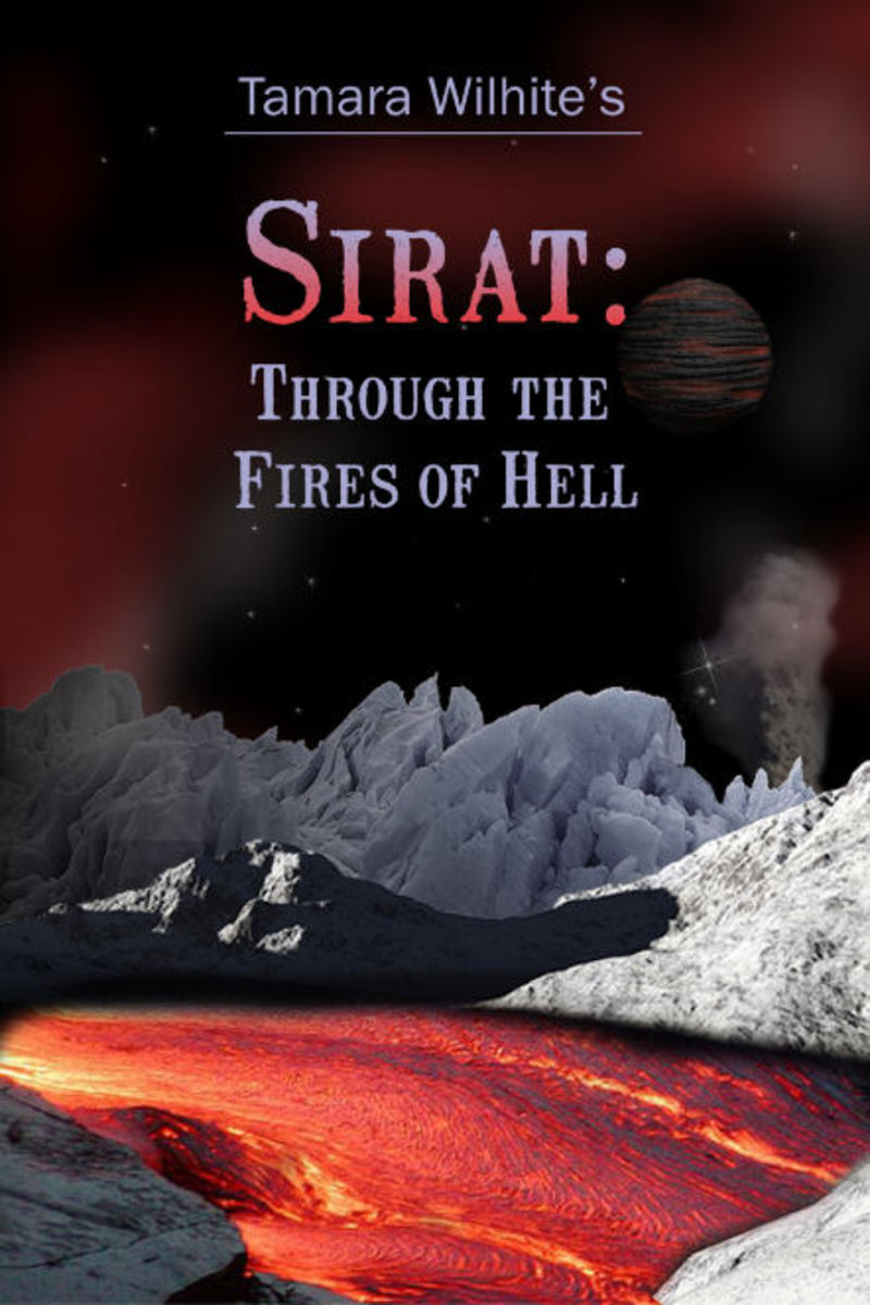 "My novel ""Sirat: Through the Fires of Hell""."