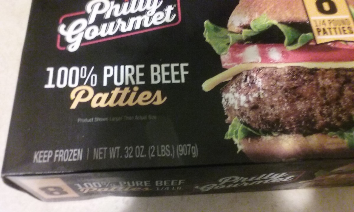 philly gourmet 100% pure beef patties