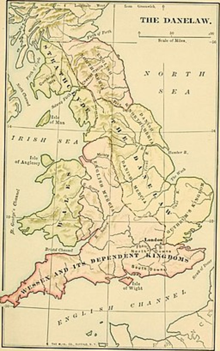 Map of the Danelaw in England  Attribution: Philip Van Ness