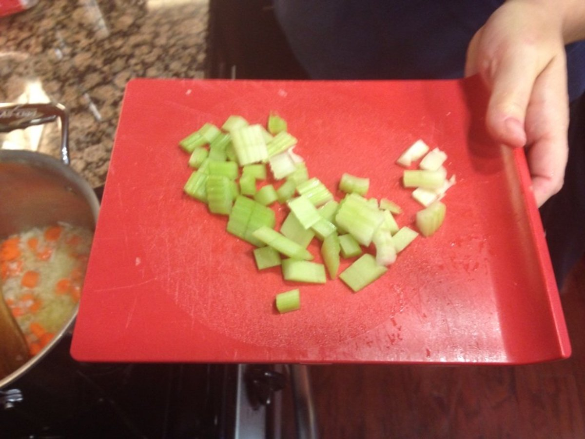 I like the celery chopped into small pieces.