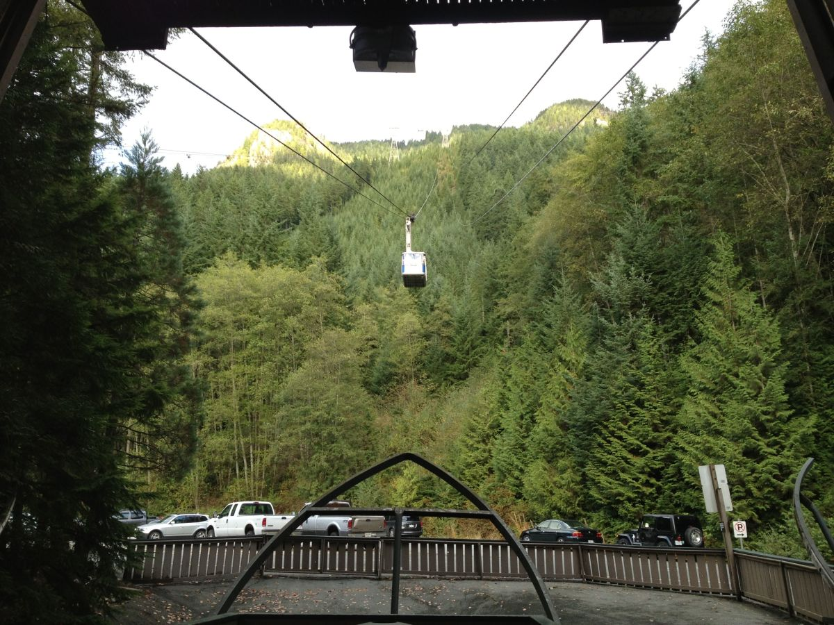Skyride to the top of Grouse Mountain.