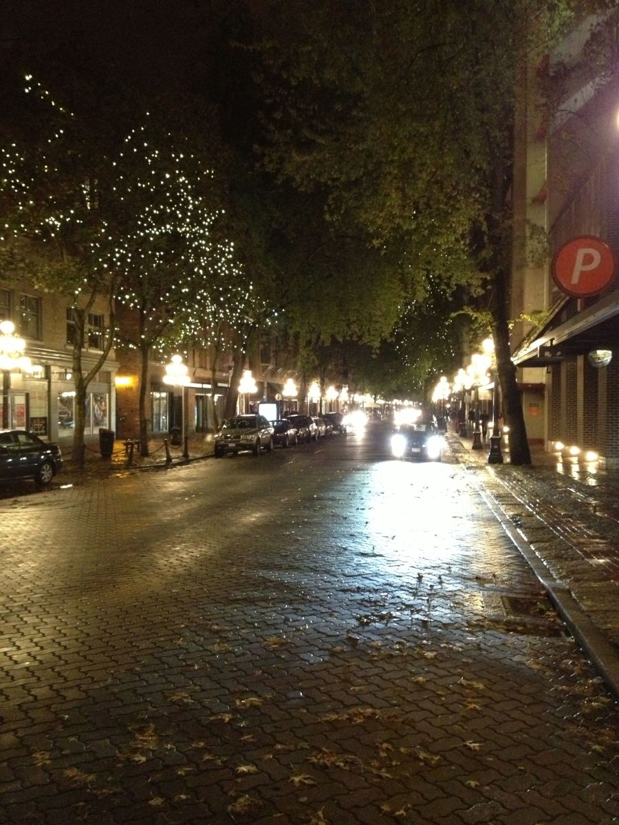 Lovely cobblestone street in Gastown.