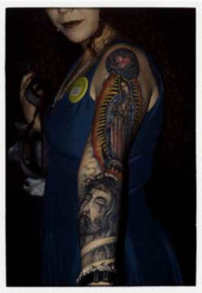 photographed at a tattoo convention
