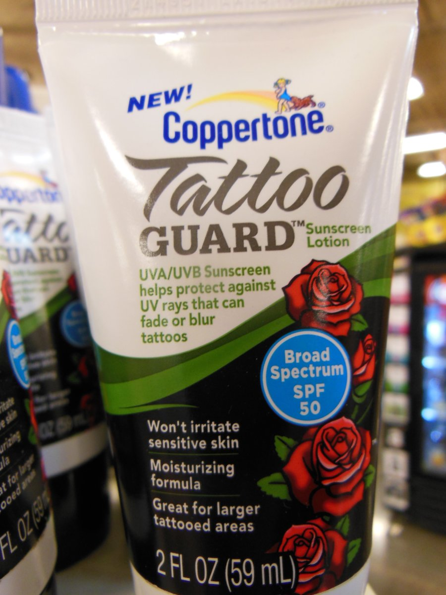 Caring for healing tattoos for Sunscreen new tattoo