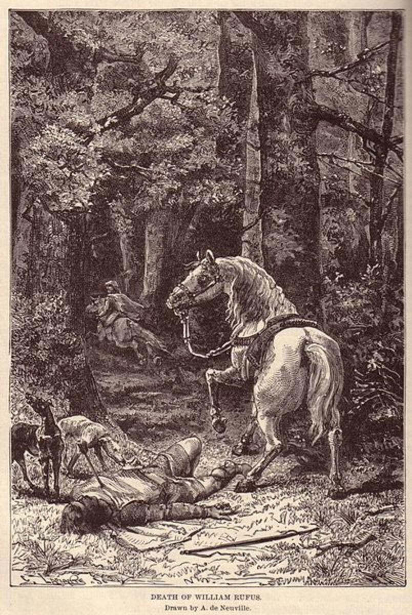 Death of William Rufus. Attribution: Ridpath's Universal History 1895.