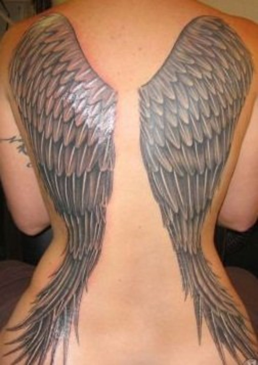 634ce91c579e1 Tattoo Ideas: Wings (Angels, Butterflies, Fairies) | TatRing