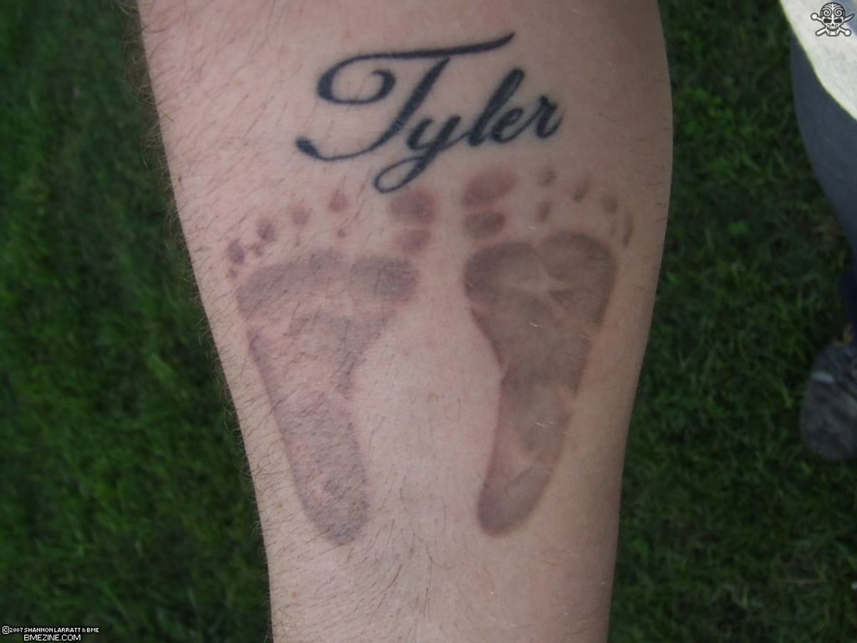 baby footprint tattoo baby footprint tattoo
