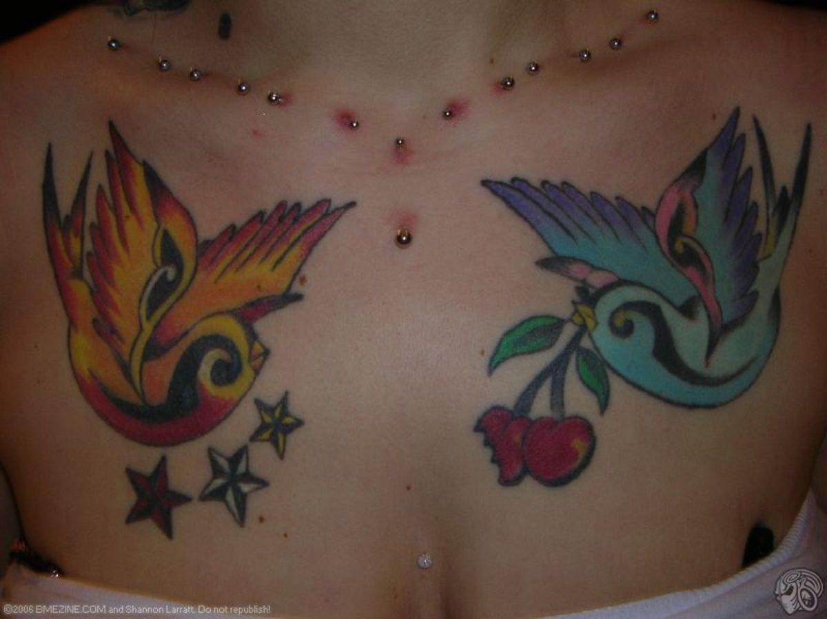 idei-dlya-tatuirovok - Идеи татуировки: воробьи и ласточки -  - фото