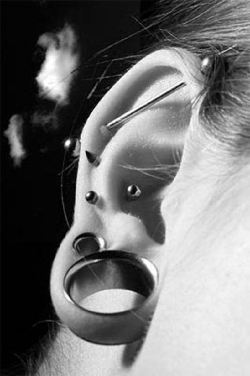 Industrial. Helix. Inner Conch. Lobe