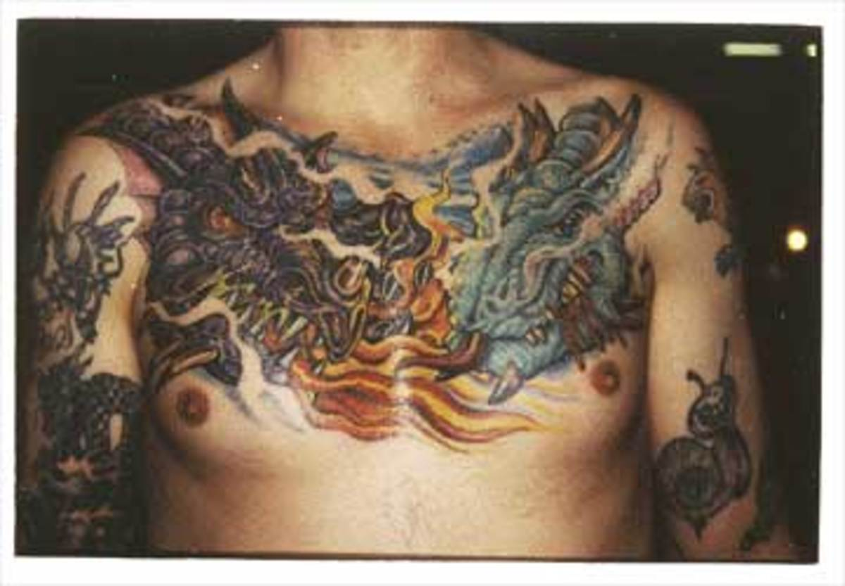 A double dragon chest piece