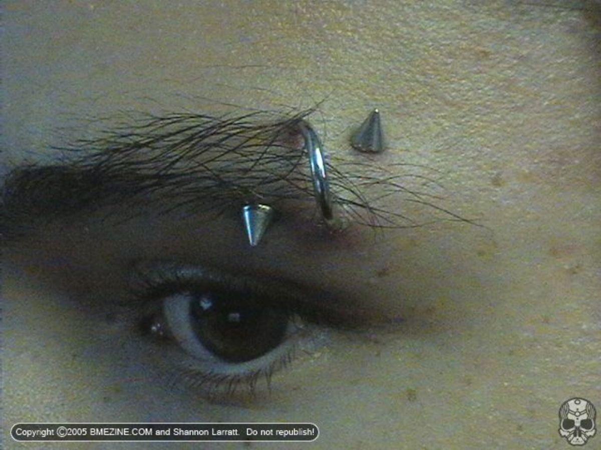 Spiral Eyebrow Piercing