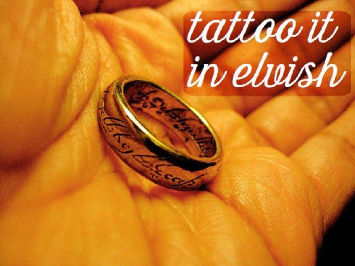 Tattoo Ideas in Elvish Script From