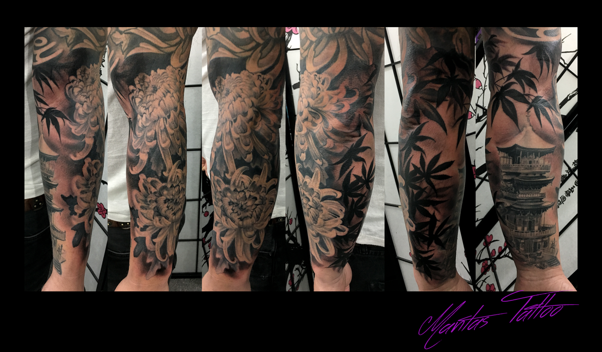 Oriental theme tattoo