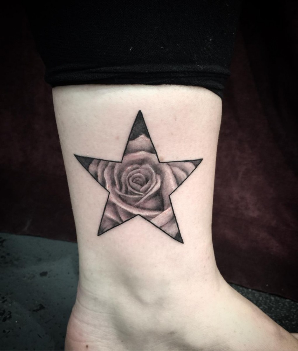 9f3890f0788b8 Star Tattoo Meanings, Ideas, and Pictures | TatRing
