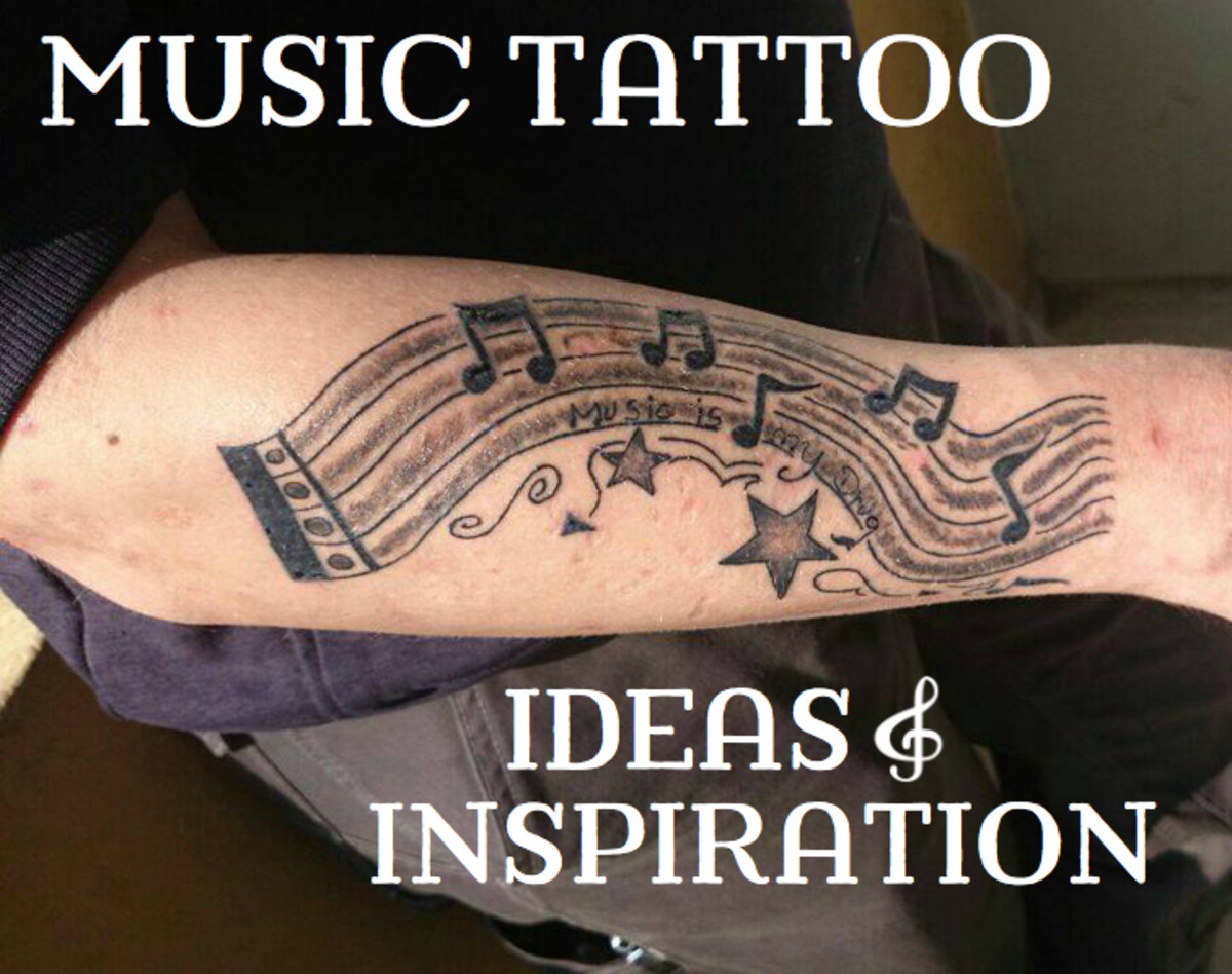 Music Tattoo Pictures: Music Notes, Instruments & Bands