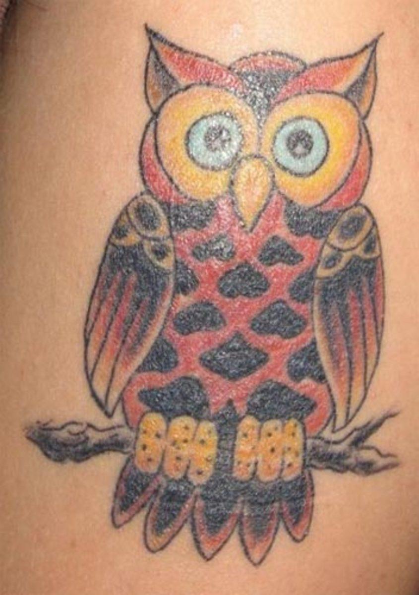 Tattoo of a Buho