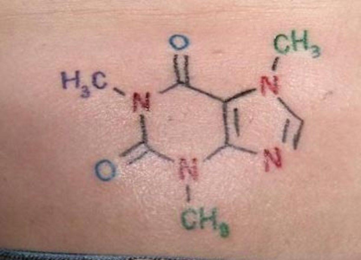 Caffeine Molecule (by Bubbles, Koolsville, Woodstock IL)
