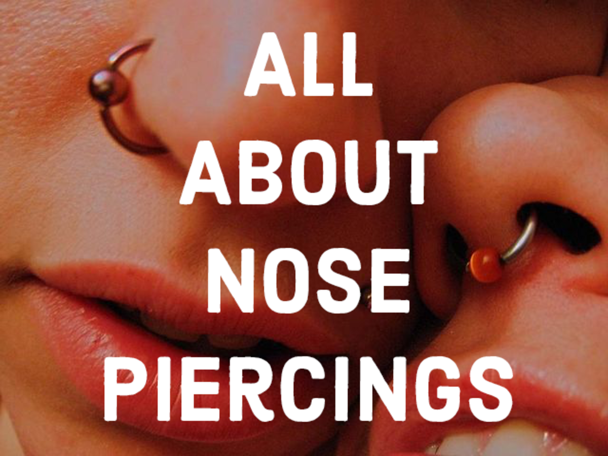 Learn about different types of nose piercings and jewelry styles.