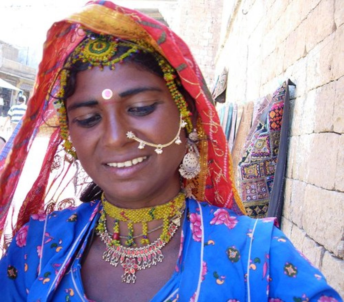 Hindu nose chain