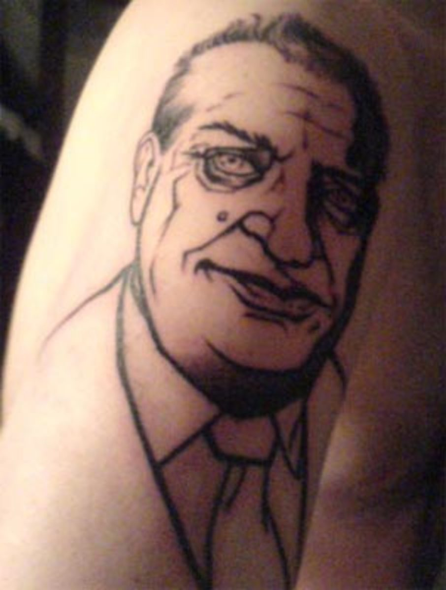 Rodney Dangerfield (by Chino, Imperial Tattoos, Toronto)