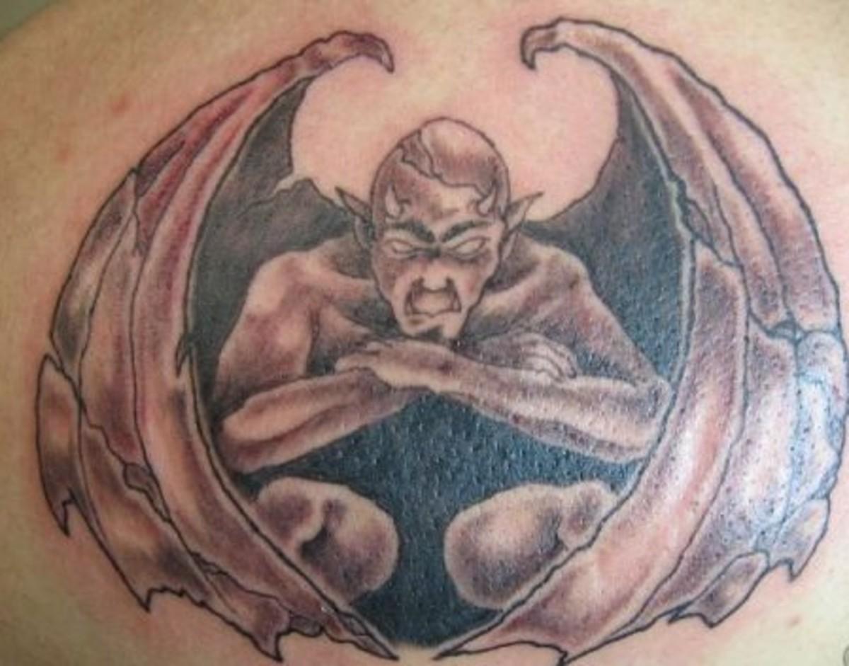 idei-dlya-tatuirovok - Идеи Татуировки: Татуировки Горгулья -  - фото