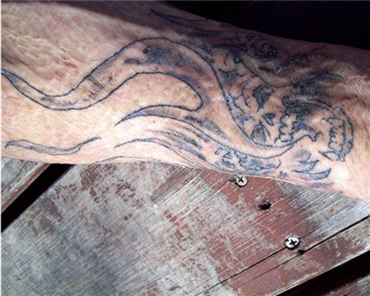 We now know that tattoos can look great on scarred or grafted skin.