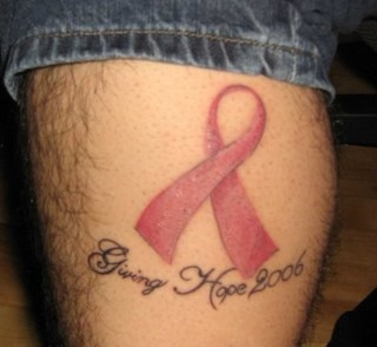 My husband John had this tattoo done by Brent in Dunstable to celebrate breast cancer ribbon tattoos. There have been so many boons to the craft in