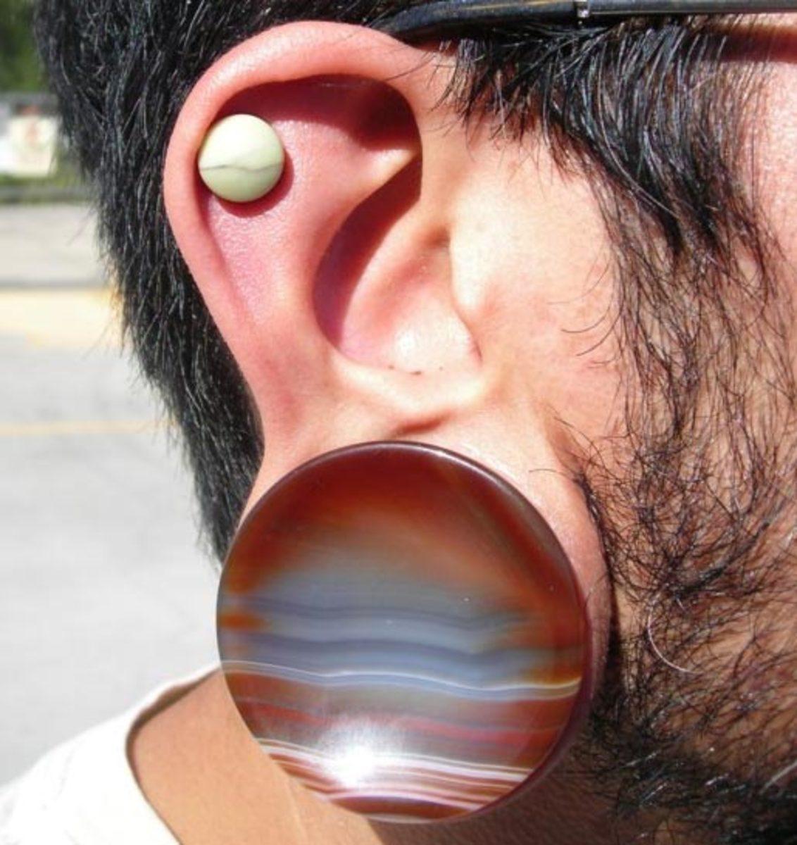 Ear Gauge Size Chart By Stephen Detoma Anomaly Studio Pasadena Ca
