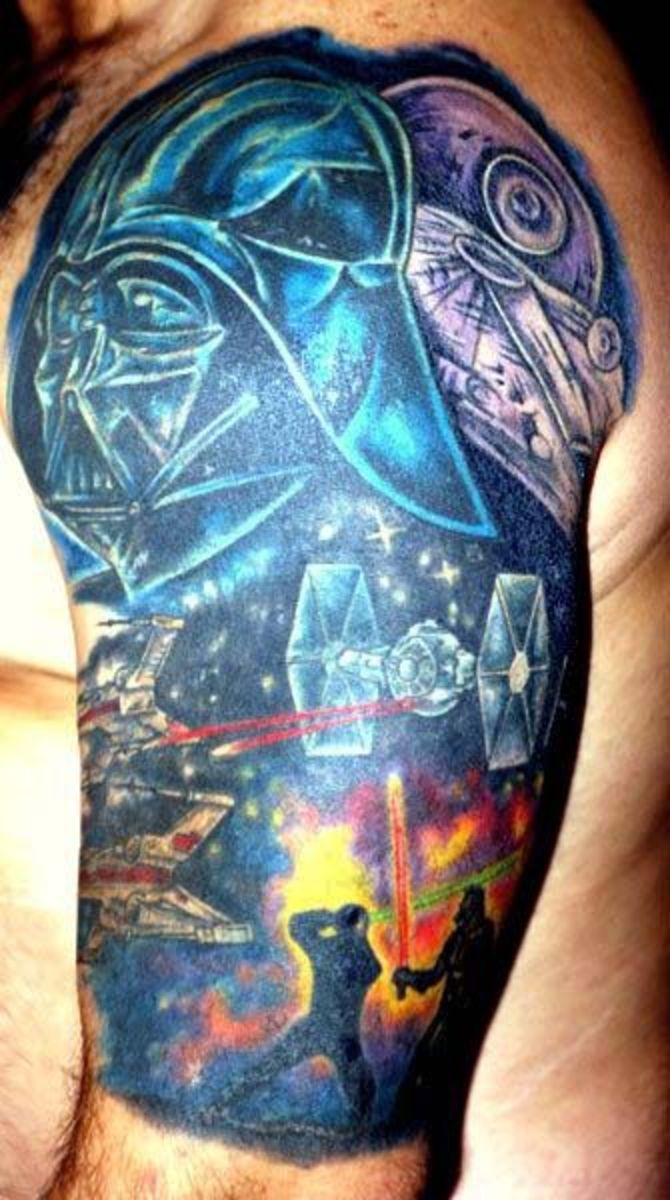 Colorful Star Wars Darth Vader Tattoo