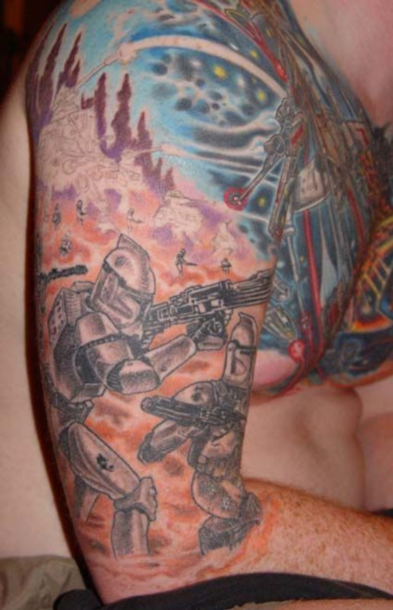 Battle Sleeve tattoo