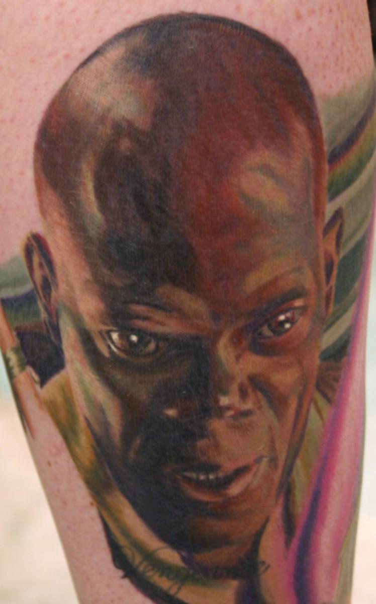 Very cool Mace Windu tattoo
