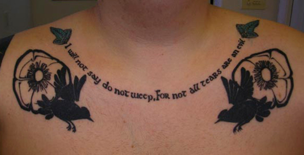 Tattoo of Gandalf Quote
