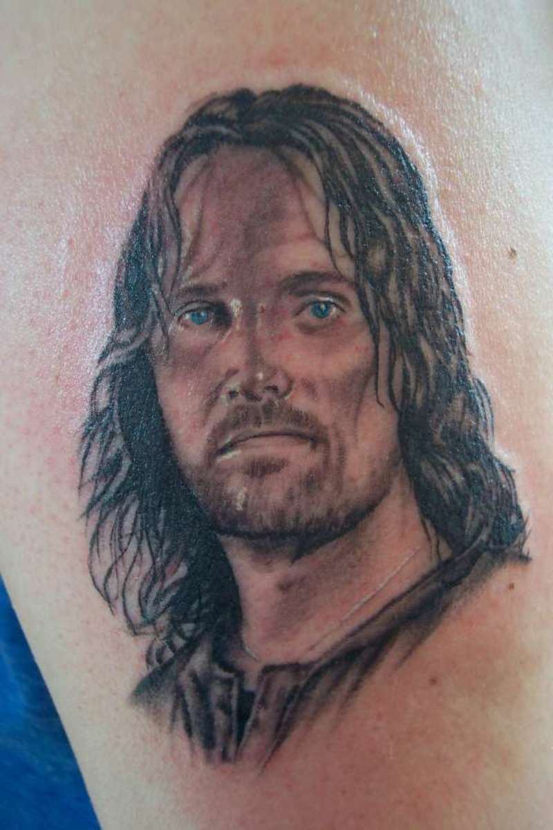 Extraordinary tattoo of Aragorn