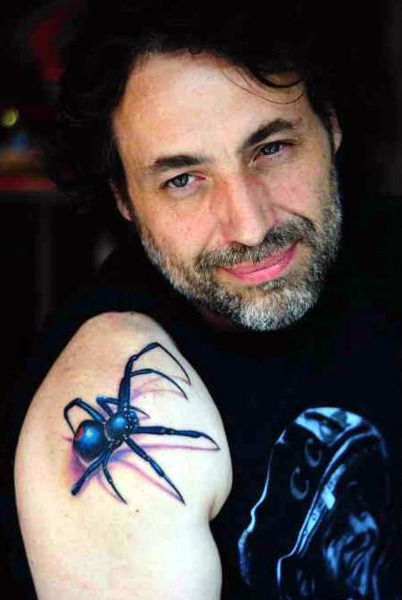 Cool 3D Tattoos Ideas Especially 3D Spider Tattoo Design Picture 6