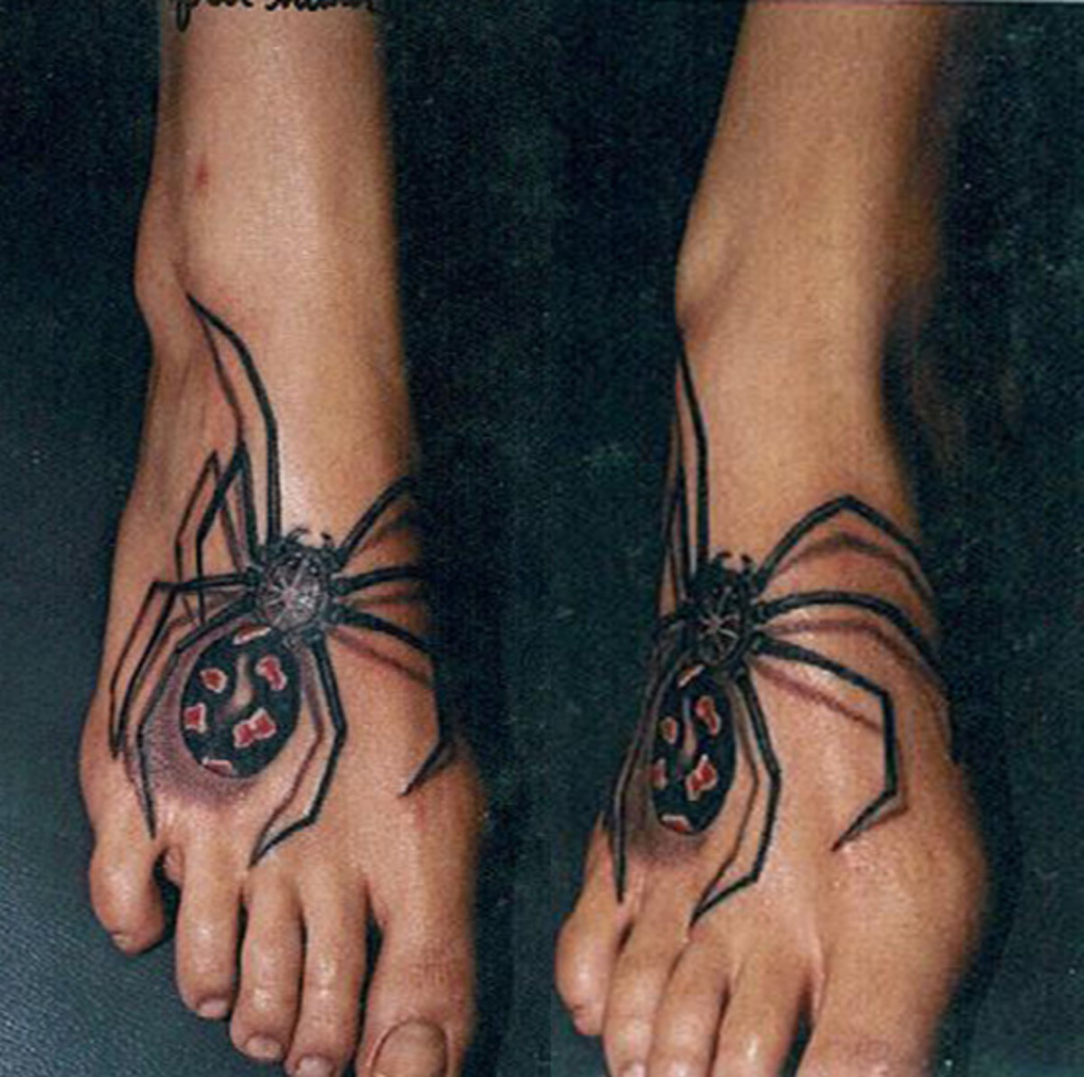 Spider Tattoo on Foot