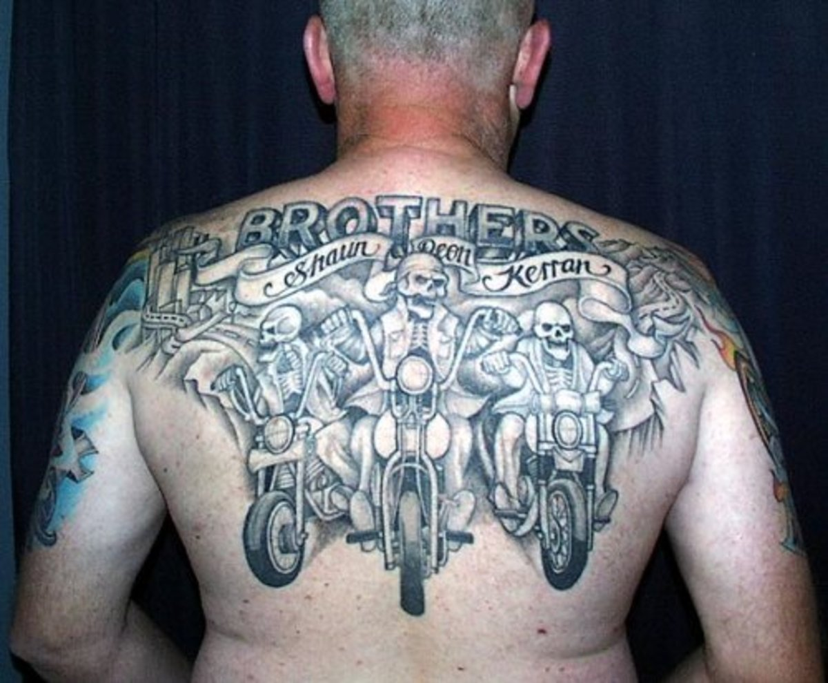 Motorcycle riders tattoo.