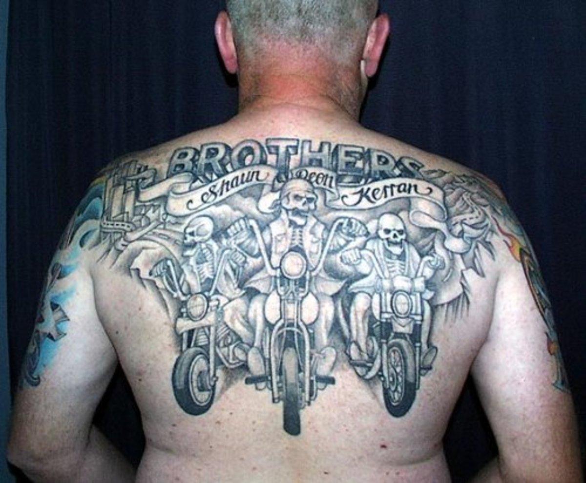 Three Motorcycle Riders Tattoo Design