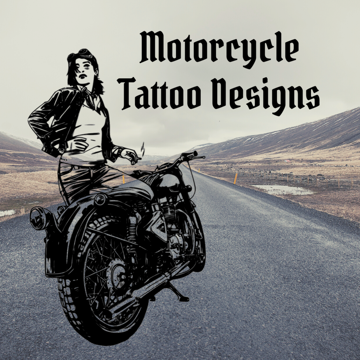Look through some tattoos of motorcycles and bikers.