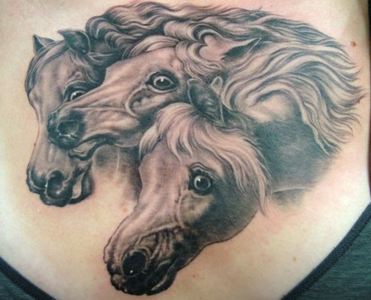 Tattoo of Horse Group Running
