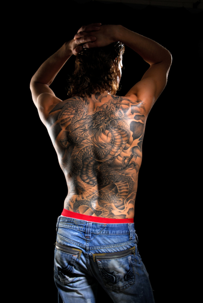 Chinese dragon on back