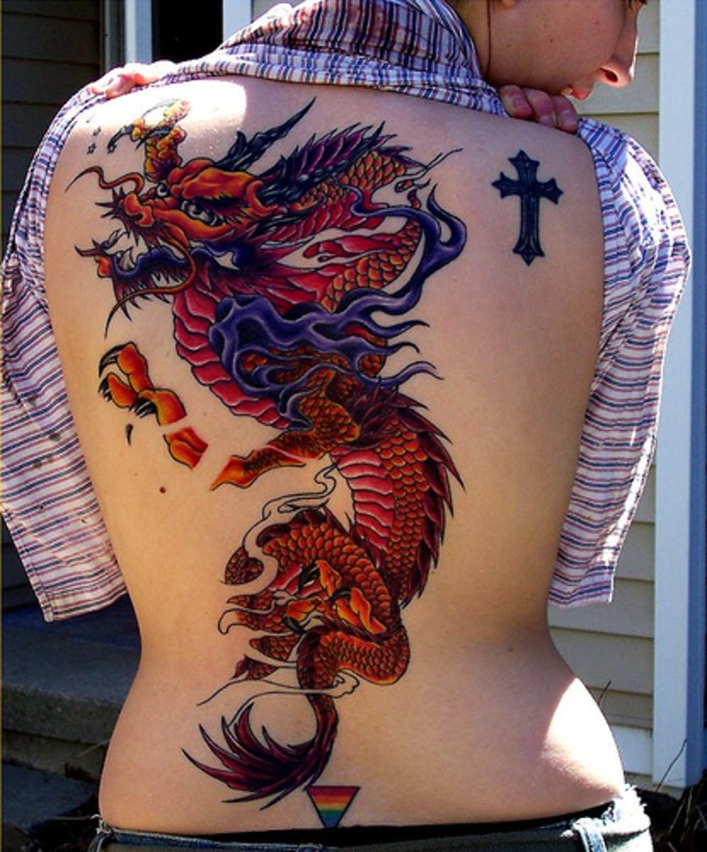 Фото драконов для тату